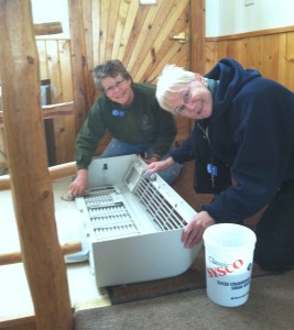 Amy and Jenny did a lot of cleaning in the cabins, including cleaning the AC/Heater systems.