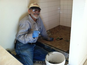 Bob updated SEVERAL bath rooms by installing ceramic tile.