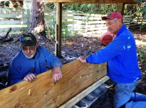 Chuck and Don built an addition on the chicken house.
