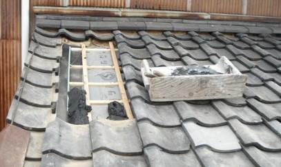 瓦屋根 修理 葺き直し