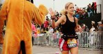 Mallary Tenore completes a marathon.