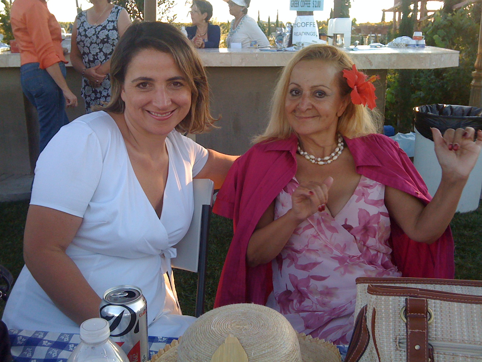 The author, Felina Danalis, with her mother.
