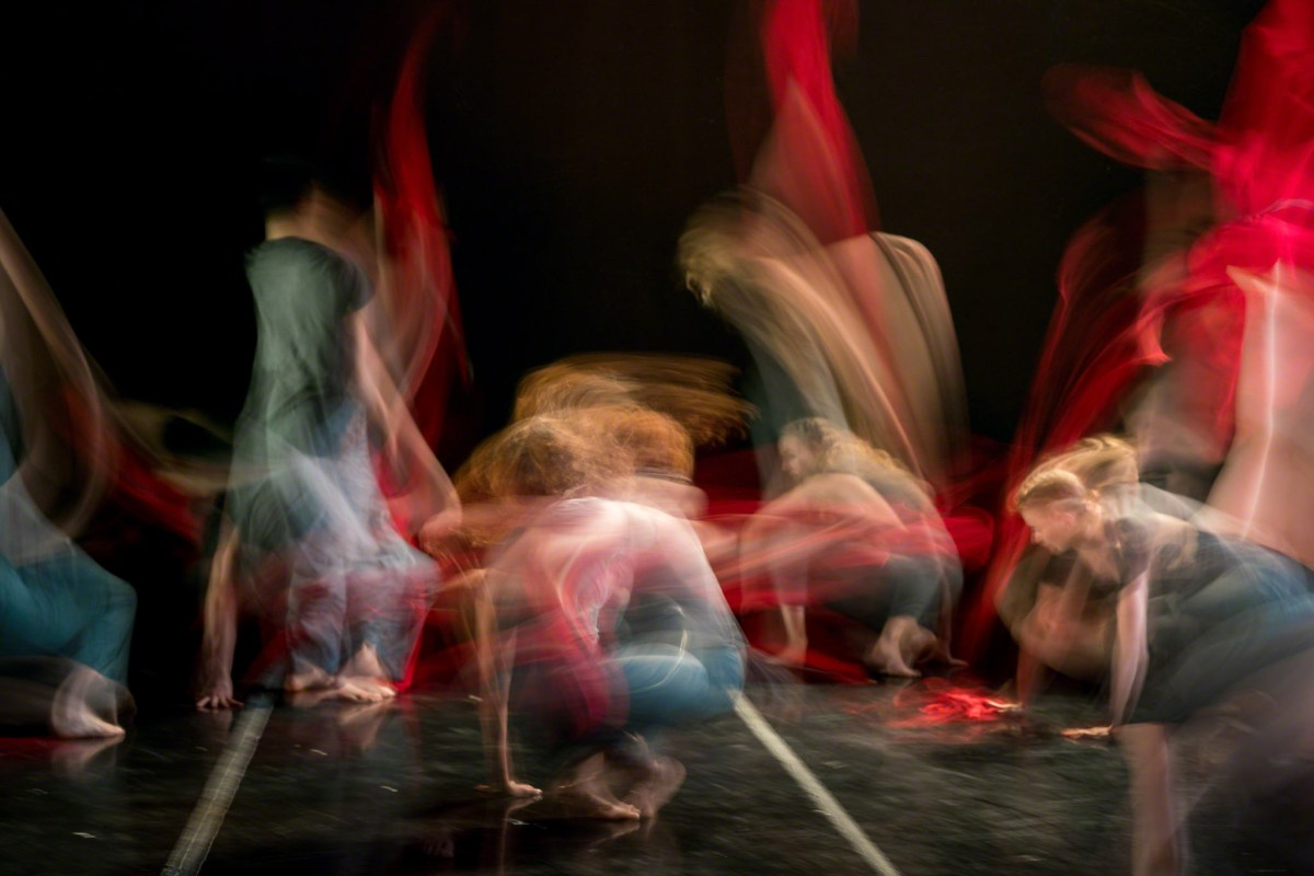 """Dancers from LINES Ballet perform """"1638."""""""