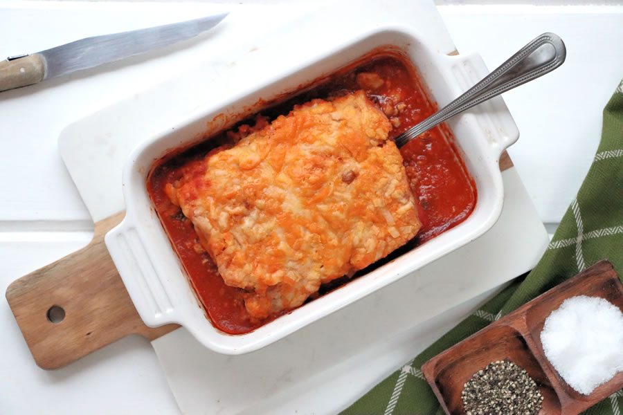 The Veestro Enchilada Casserole Baked In A Dish