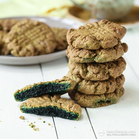 Keto Green Cookies with Sunflower Seed Butter
