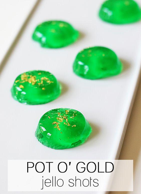 Pot O'Gold Jello Shots
