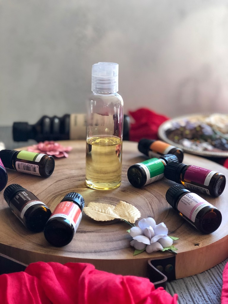 DIY aromatherapy shower drops.
