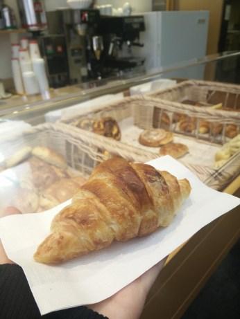 Freshly-baked croissant