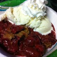 Dutch Oven Strawberry Cobbler