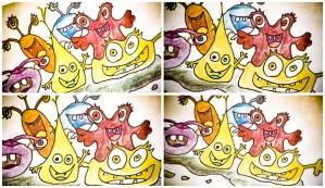 image of cartoon bugs