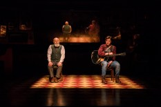 Landmark Productions presents Once at the Olympia Theatre, 30 June - 26 August, 2017 oncemusical.ie L-R Bill Murphy as Da and Brian Gilligan as Guy Photo:Patrick Redmond