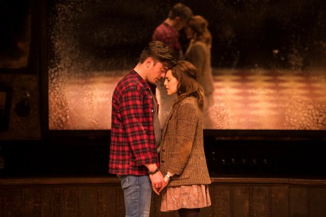 Landmark Productions presents Once at the Olympia Theatre, 30 June - 26 August, 2017 oncemusical.ie L-R Brian Gilligan as Guy and Niamh Perry as Girl. Photo:Patrick Redmond