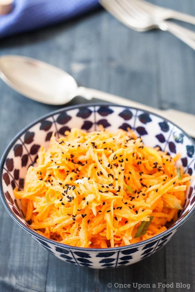 Originating in France, where it's called carottes râpées, this French Carrot Salad is perfect alongside any simply cooked meat or fish.