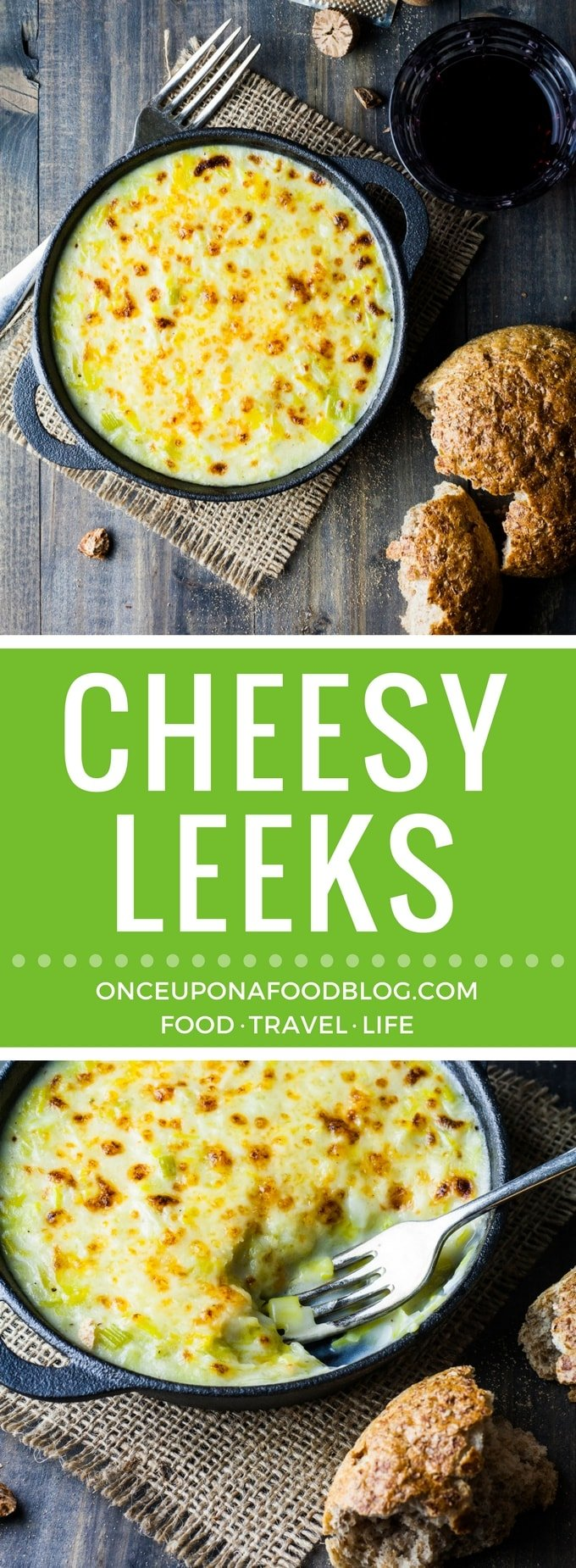 Smooth, silky leeks in a creamy, cheesy sauce. Absolutely gorgeous served with a chunk of bread or alongside your favourite roast or casserole. #leeks #cheesyleeks #vegetarian #recipe #food
