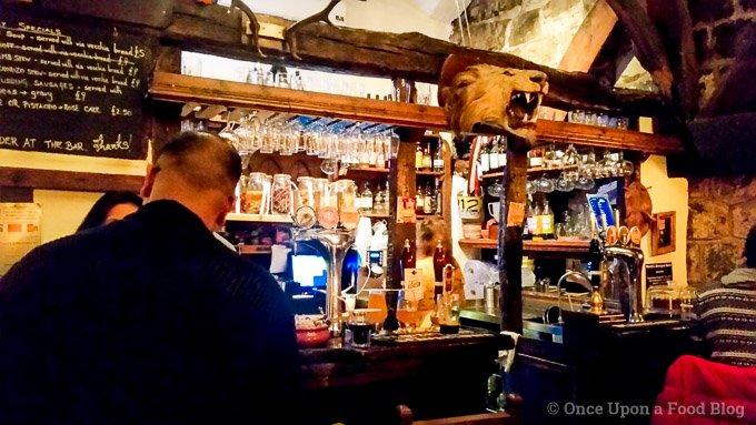 The bar at the House of Trembling Madness in York, England
