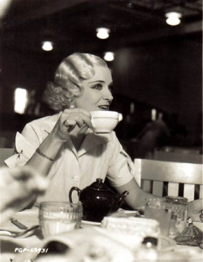 Olga Baclanova at the MGM Commissary probably during filming of FREAKS