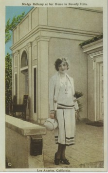 Madge Bellamy at home