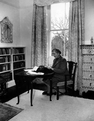 English writer Dame Agatha Christie, at