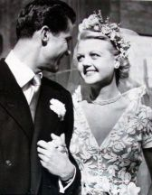 Angela Lansbury and Peter Shaw at their wedding