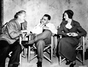 With Spencer Tracy and Deborah Kerr on set of Edward, My Son 1949