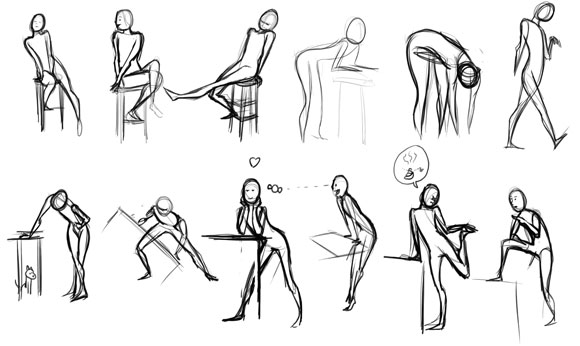 Gesture Drawings Posing People