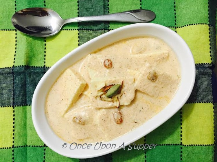 Afghani Paneer — soft cottage cheese in a dreamy white Afghani sauce