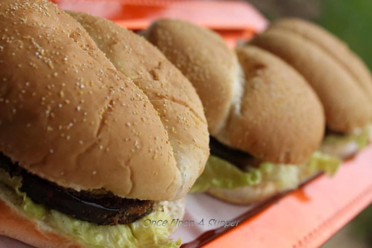 Aubergine (Eggplant) patty Sandwiches — all for the love of Purple!