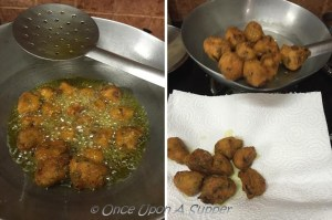Making of red lentil fritters