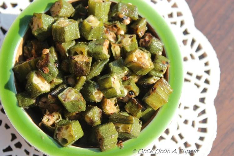 Dum ki Bhindi -- spiced, sealed and slow cooked Okra