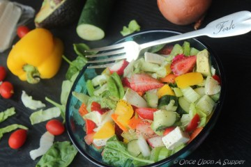 A Handful of Everything Salad -- my cheerful bowl of Goodness