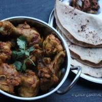 Bhuna Murgh or Kosha Murgir Mangsho -- South Asian Pan Seared spicy Chicken