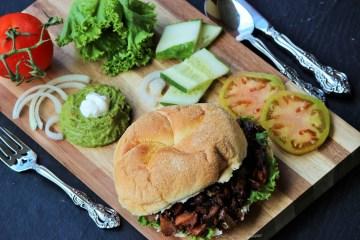 Pulled Salmon Teriyaki Sandwich