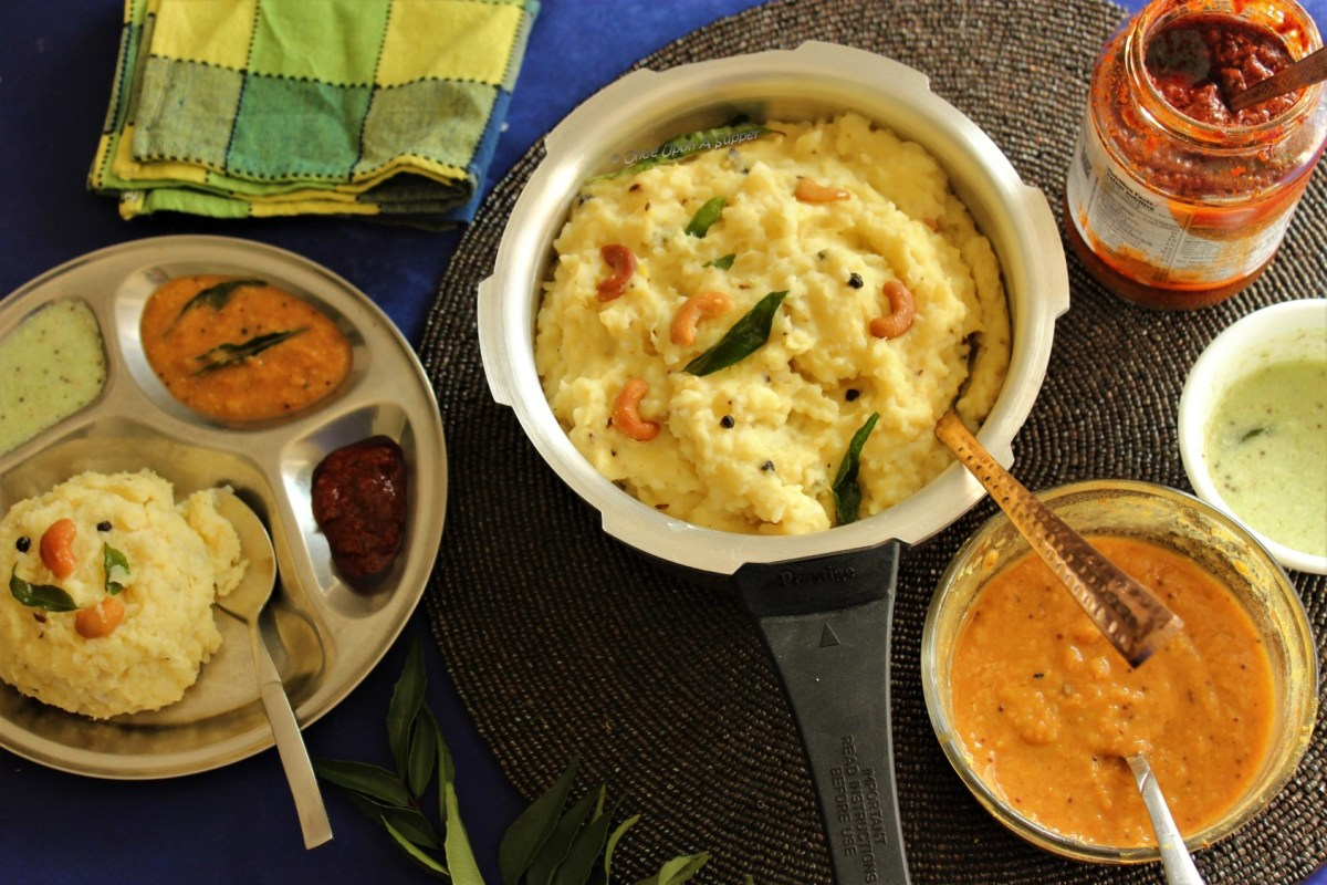 Ven Pongal (Ghee Pongal or Khara Pongal) -- a family favorite recipe