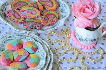 Rainbow Butter Cookies -- for spring, the colors, the blossoms and happy sunshine!