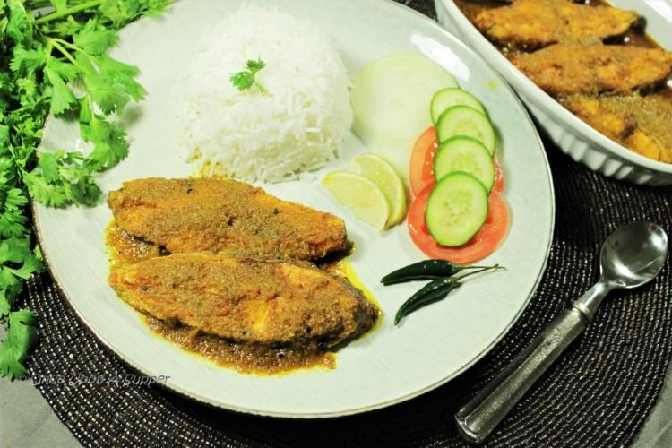 Tilapia Macher Dhone Kalia — Bengali style fish in spicy coriander sauce