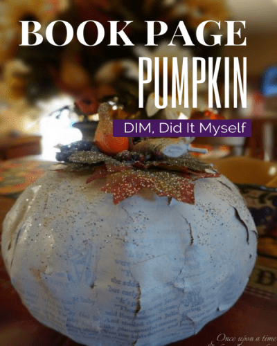 DIM, Did It Myself: Book Page Pumpkin