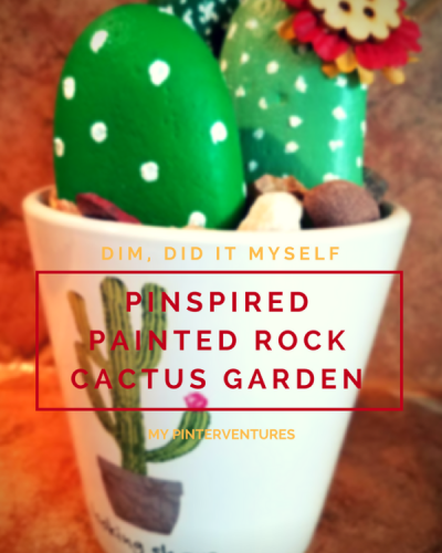DIM, Did It Myself: Pinspired Painted Rock Cactus Garden