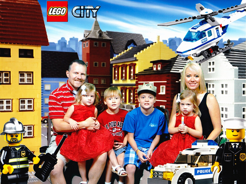 Lego City Chicago Wheat family