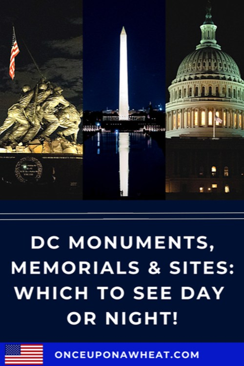 DC Monuments at night pin