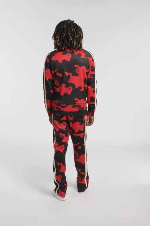 WESK2 TRACK PANTS CAMO RED O3W ONCE WE WERE WARRIORS