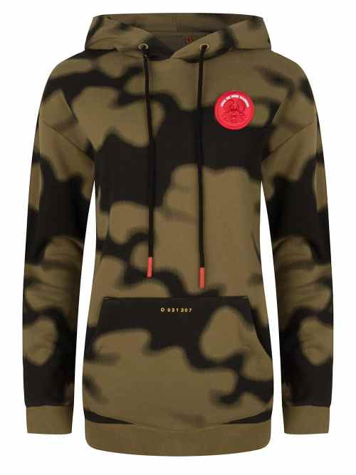 solo hoodie sweat camo print olive green once we were warriors