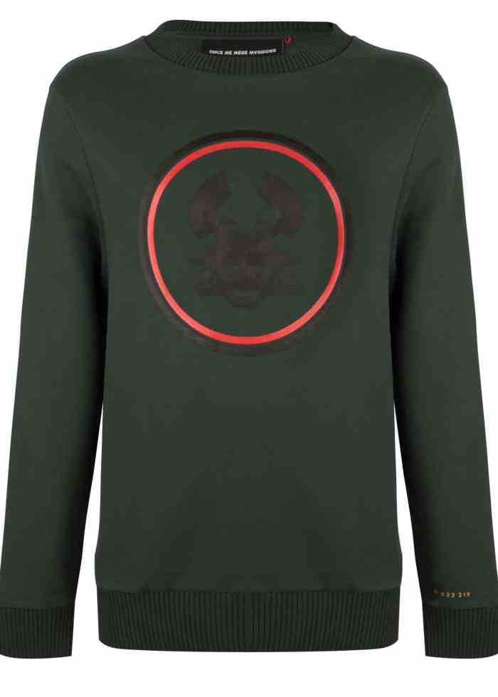 TOBI 2 CREWNECK DARK GREEN ONCE WE WERE WARRIORS