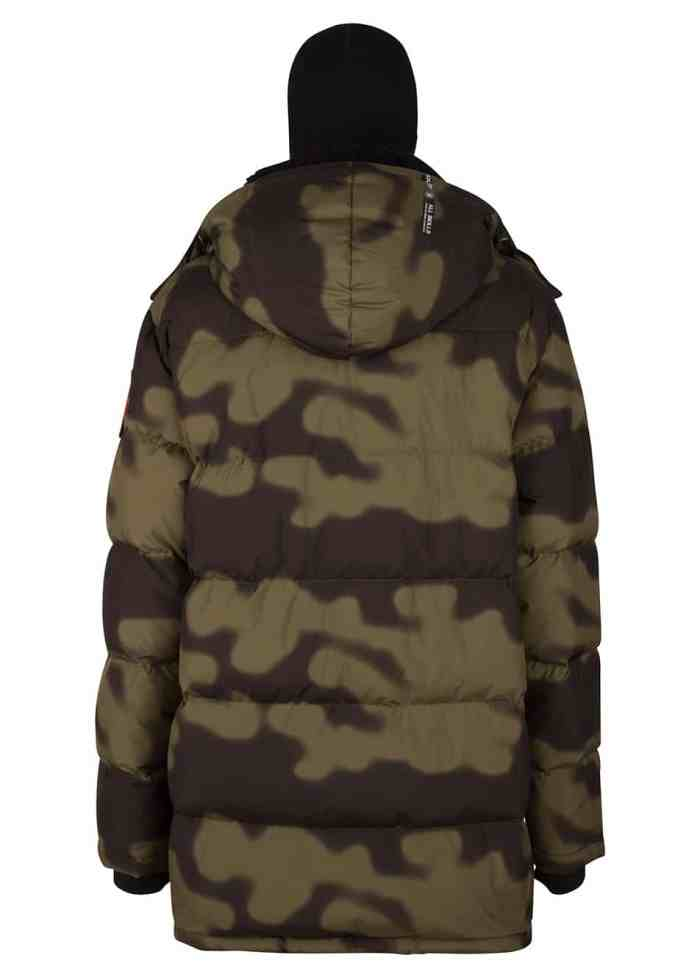 Soyo Camo PUFFA DOWN JACKET OLIVE ONCE WE WERE WARRIORS