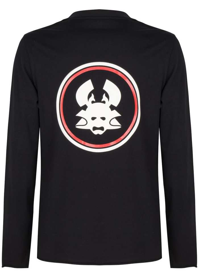Yu long sleeve tee black once we were warriors