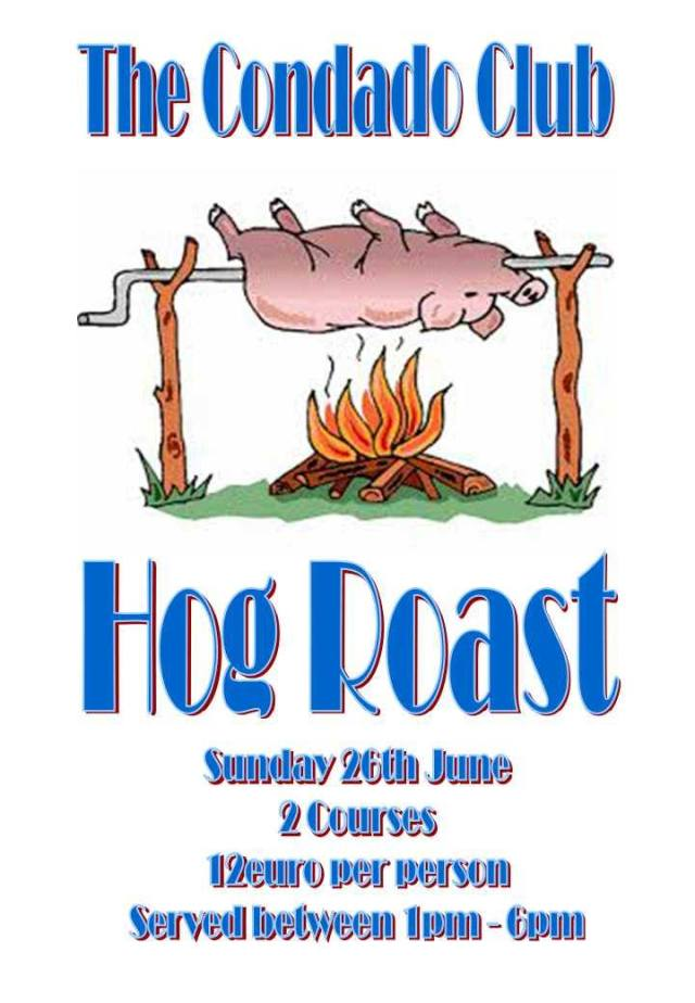 Hog Roast 26th june 2016 at The Condado Club