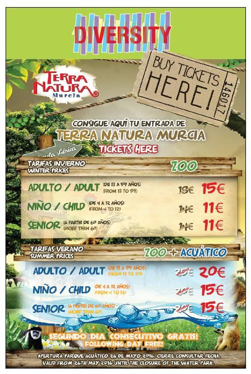 Terra Natura Discount Tickets Flyer