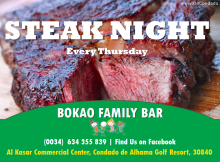 Steak Night at Bokao Family Bar Condado de Alhama