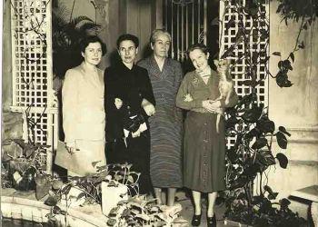 Encuentro de Dulce María Loynaz y Gabriela Mistral en La Habana.