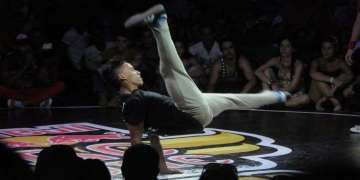 The Cuban B-Boy Gannicus was eliminated in his first battle, but showed a lot of intensity in Brazil / Photo: Roberto Ruiz.