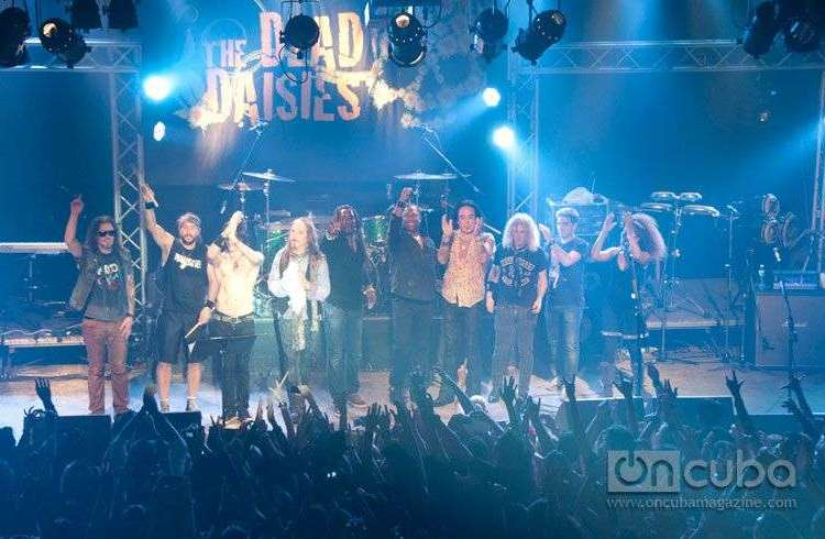 Concert of The Dead Daisies in Maxim Rock, Havana, Cuba, February 25th, 2015 / Photo: Roberto Ruiz